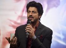 Ator de Bollywood Shah Rukh Khan durante evento em Londres.    13/04/2016     REUTERS/Hannah McKay