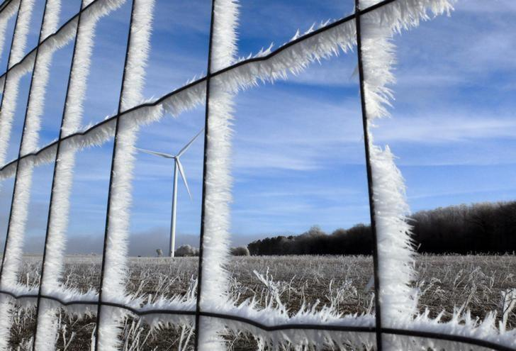 Fences and fields are covered with frost near the A6 highway, also known as the ''Autoroute du Soleil (Highway of the Sun) near Dijon, France January 6, 2015.   REUTERS/Yves Herman