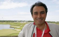 Jean Van de Velde, French former player and director of the French Open golf tournament, poses at the Golf National course in Saint-Quentin-en-Yvelines, near Paris July 5, 2012. REUTERS/Regis Duvignau
