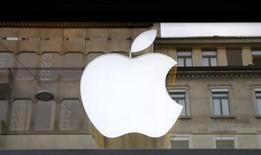The logo of U.S. technology company Apple is seen in Zurich, Switzerland April 5, 2016. REUTERS/Arnd Wiegmann