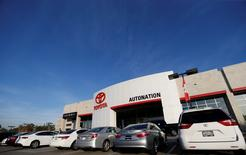 Vehicles for sale are pictured on the lot at AutoNation Toyota dealership in Cerritos, California December 9, 2015.   REUTERS/Mario Anzuoni
