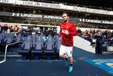 Juan Mata durante partida do Manchester United.  10/04/2016   Action Images via Reuters / John Sibley Livepic
