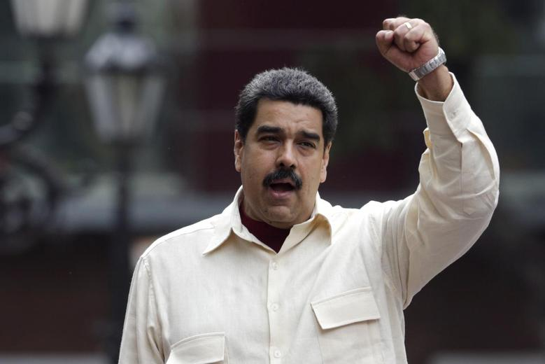 Venezuela's President Nicolas Maduro attends a rally to celebrate the 206th anniversary of the Declaration of Independence, in Caracas, Venezuela, April 19, 2016. REUTERS/Marco Bello