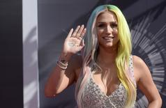 Kesha chega para MTV Music Video Awards em Inglewood.  24/8/2014.   REUTERS/Kevork Djansezian