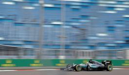 Formula One - Russian Grand Prix - Sochi, Russia - 29/4/16 - Mercedes Formula One driver Lewis Hamilton of Britain drives during the second practice session. REUTERS/Maxim Shemetov