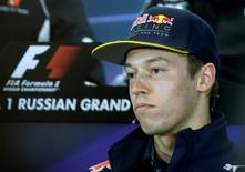 Formula One - Russian Grand Prix - Sochi, Russia - 28/4/16 -  Red Bull Formula One driver Daniil Kvyat of Russia attends a news conference. REUTERS/Maxim Shemetov
