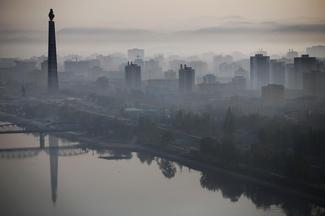 The Pyongyang skyline
