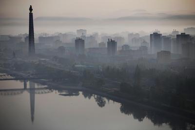 The Pyongyang skyline