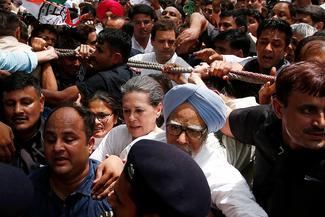 Congress protest in Delhi