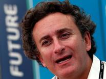 Alejandro Agag, Formula E CEO, speaks during an interview with Reuters ahead of round four of the Formula E championship in Buenos Aires January 8, 2015.   REUTERS/Marcos Brindicci