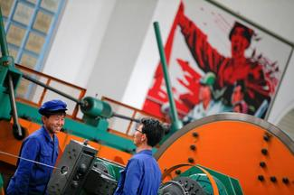 Factory workers of North Korea