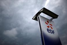 EDF, à suivre lundi à la Bourse de Paris, a exprimé un intérêt pour une participation dans le réseau de distribution de gaz du portugais Galp Energia, selon quatre sources au fait du dossier. /Photo prise le 21 avril 2016/REUTERS/Stéphane Mahé