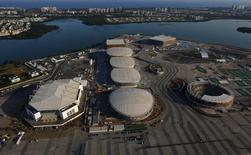 Vista aérea do Parque Olímpico, no Rio. 25/4/2016.  REUTERS/Ricardo Moraes.