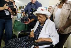 Pessoa mais velha do mundo, Susannah Mushatt Jones, em Nova York.     07/07/2015        REUTERS/Lucas Jackson