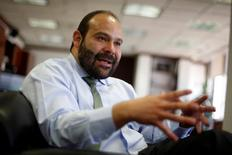 Pemex's Chief Financial Officer (CFO) Juan Pablo Newman gestures during an interview with Reuters at Pemex headquarters in Mexico City, Mexico, May 13, 2016. REUTERS/Tomas Bravo