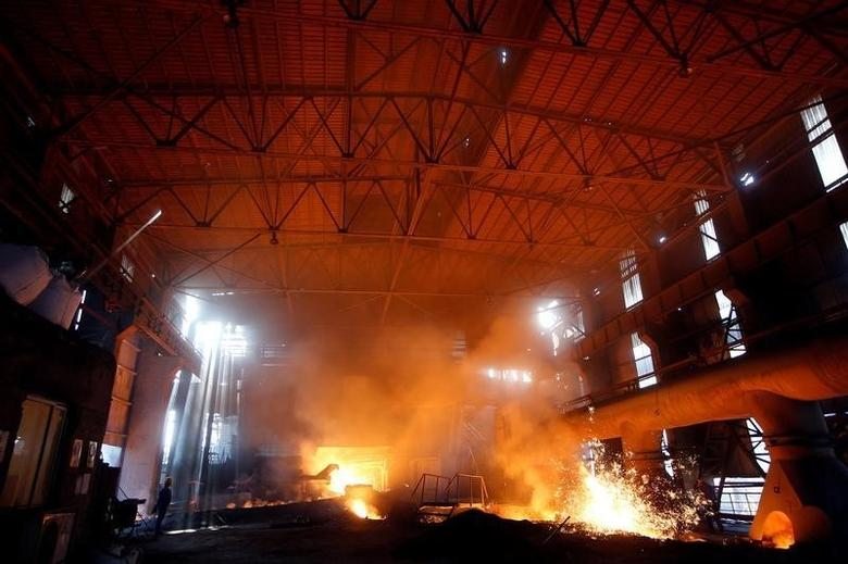 A view inside a steel production facility at Shanxi Zhongsheng Steel in Fenyang, Shanxi Province, China, April 28, 2016. REUTERS/John Ruwitch