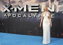 Actor Jennifer Lawrence arrives at a screening of X-Men Apocalypse at a cinema in London, Britain, May 9, 2016. REUTERS/Hannah McKay