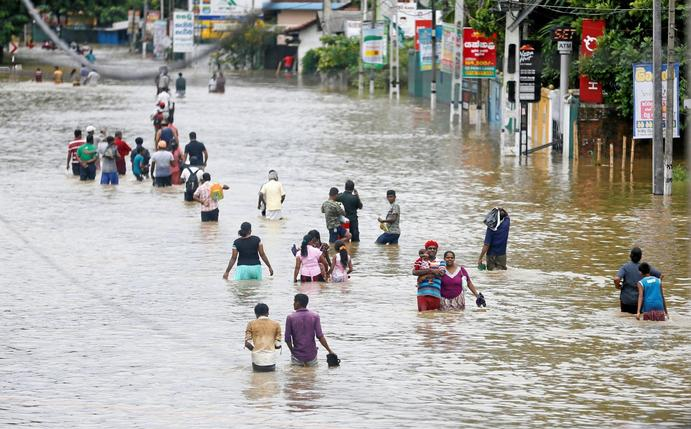 Sri Lanka's torrential rains drive more than 130,000 from homes