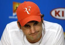 Tenista Roger Federer durante entrevista coletiva na Austrália.    28/01/2016        REUTERS/Issei Kato