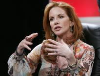 Actress Melissa Gilbert answers a question during a panel discussion at the Television Critics Association press tour in Pasadena January 9, 2007. REUTERS/Gus Ruelas