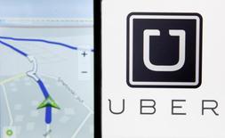 Nokia Maps é visto em smartphone ao lado de logo do Uber em Zenica, Bósnia e Herzegovina 08/05/2015 REUTERS/Dado Ruvic/File Photo