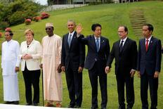 Líderes do G7 durante encontro em Ise Shima, Japão.  27/05/2016          REUTERS/Carlos Barria