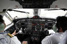 """Dans l'aéronautique, tout le monde est d'accord : le """"big data"""", c'est une révolution en marche qui permettra à la fois de développer de nouveaux avions plus vite et d'optimiser leurs coûts de production. Et elle ne fait que commencer. /Photo d'archives/REUTERS/Soe Zeya Tun"""