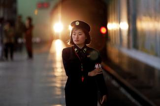Riding the subway in North Korea