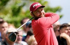 Golf - Dubai Duty Free Irish Open - The K Club, County Kildare, Ireland - 19/5/16 England's Andy Sullivan tees off at the 5th hole during the first round Action Images via Reuters / Paul Childs Livepic