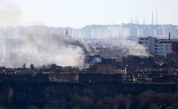 Buildings which were damaged during security operations and clashes between Turkish security forces and Kurdish militants are pictured in Sur district of Diyarbakir, Turkey February 29, 2016.  REUTERS/Sertac Kayar