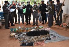 Filhotes mortos de tigre mostrados por autoridades tailandesas.   01/06/2016        Daily News/via REUTERS