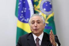 Presidente interino Michel Temer. 16/05/2016. REUTERS/Ueslei Marcelino