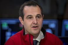 Renaud Laplanche, Founder and CEO of Lending Club, speaks during an interview with CNBC on the floor of the New York Stock Exchange December 11, 2014.  REUTERS/Brendan McDermid