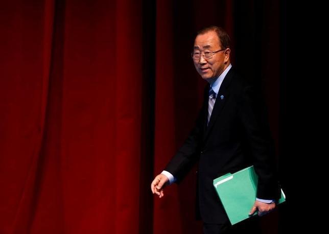 U.N. Secretary-General Ban Ki-moon  in Istanbul, Turkey, May 24, 2016. REUTERS/Murad Sezer