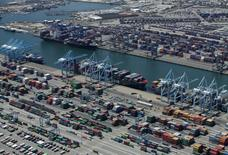 The Port of Long Beach is shown in this aerial photograph taken above Long Beach, California August 5, 2015.   REUTERS/Mike Blake