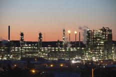 The Irving Oil refinery is photographed at sunset on in Saint John, New Brunswick, March 9, 2014. REUTERS/Devaan Ingraham