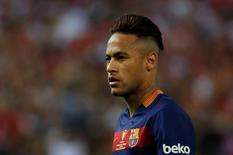 Neymar em jogo do Barcelona com o Sevilla.  22/5/16.  Reuters/Juan Medina