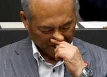 Governador de Tóquio, Yoichi Masuzoe.    15/06/2016     REUTERS/Toru Hanai
