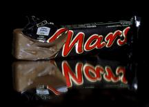Mars bars are seen in this picture illustration taken February 23, 2016. REUTERS/Dado Ruvic/Illustration