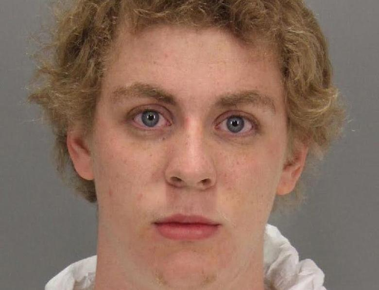 Former Stanford student Brock Turner who was sentenced to six months in county jail for the sexual assault of an unconscious and intoxicated woman is shown in this Santa Clara County Sheriff's booking photo taken January 18, 2015, and received June 7, 2016. Santa Clara County Sheriff's Department/Handout via REUTERS