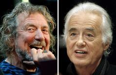 Combinação de fotos do cantor Robert Plant e do guitarista Jimmy Page, do Led Zeppelin.  9/102012 e 21/7/2015. REUTERS/Carlo Allegri, Hans Deryk