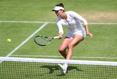 Britain Tennis - Wimbledon Preview - All England Lawn Tennis & Croquet Club, Wimbledon, England - 26/6/16 Spain's Garbine Muguruza during practice Reuters / Paul Childs Livepic