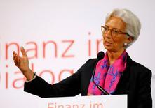 """Los mercados financieros """"subestimaron ampliamente"""" el resultado del referéndum británico para dejar la Unión Europea, pero no entraron en pánico, dijo el domingo la directora gerente del Fondo Monetario Internacional (FMI) Christine Lagarde. En la imagen de archivo, Lagarde ofrece un discurso en Viena, el 17 de junio de 2016.  REUTERS/Leonhard Foeger"""