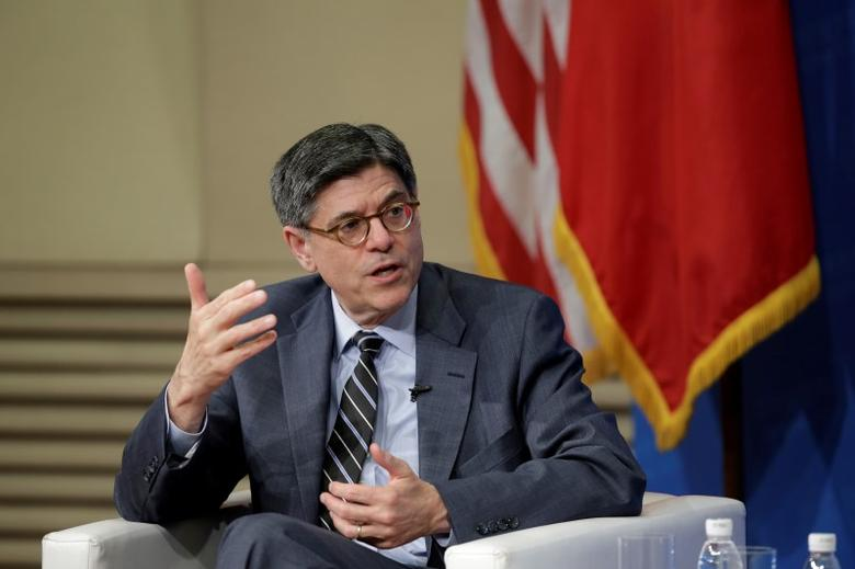 U.S. Treasury Secretary Jack Lew attends a discussion about the 2016 U.S.-China Strategic and Economic Dialogue and overall U.S.-China bilateral economic relations at Tsinghua University in Beijing, China, June 5, 2016. REUTERS/Jason Lee