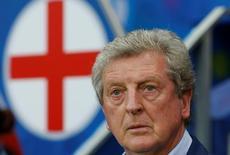 Técnico Roy Hodgson durante partida da Inglaterra contra a Islândia pela Eurocopa 27/06/2016 REUTERS/Eric Gaillard