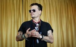 Johnny Depp durante evento em Lisboa. 27/5/2016.  REUTERS/Rafael Marchante