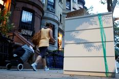 An Ikea MALM dresser is placed by the road, following the recall of almost 36 million chests and dressers in the United States and Canada, in a Brooklyn neighborhood of New York City, U.S., June 28, 2016.  REUTERS/Brendan McDermid