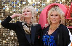 Joanna Lumley (L) and Jennifer Saunders arrive for the world premiere of ''Absolutely Fabulous'' at Leicester Square in London, Britain June 29, 2016. REUTERS/Paul Hackett