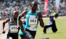 Athletics - Rio 2016 Olympic Games - Men's 800 meter trials - Eldoret, Kenya - 30/6/16 - David Rudisha (R) competes. REUTERS/Thomas Mukoya