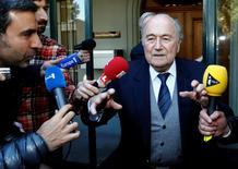 Ex-presidente da Fifa Joseph Blatter.     29/04/2016      REUTERS/Denis Balibouse/Files